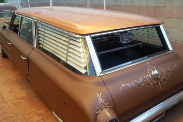 1960-1964 Ford Galaxy Square Wagon rear window blinds
