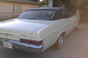 1966 Chevy Caprice rear window venetian blinds