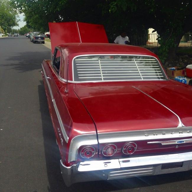 1962 1964 chevy impala rear venetian blinds