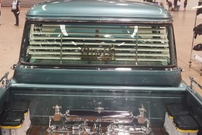 1955-1959 Chevy truck big window rear venetian blinds