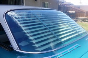 1961 Chevy Impala rear venetian blinds